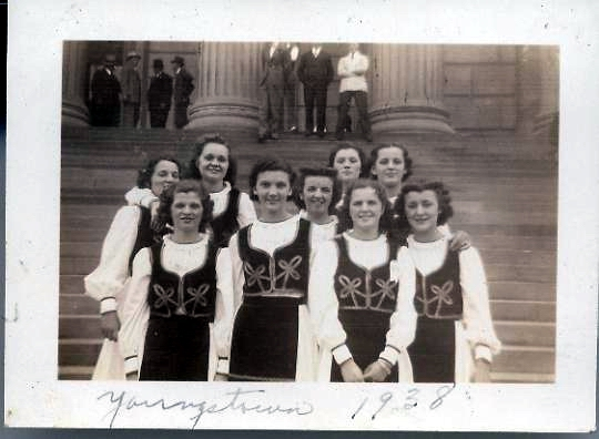 Pittsburgh's Philip Visnich girls in Youngstown, Ohio, 1938